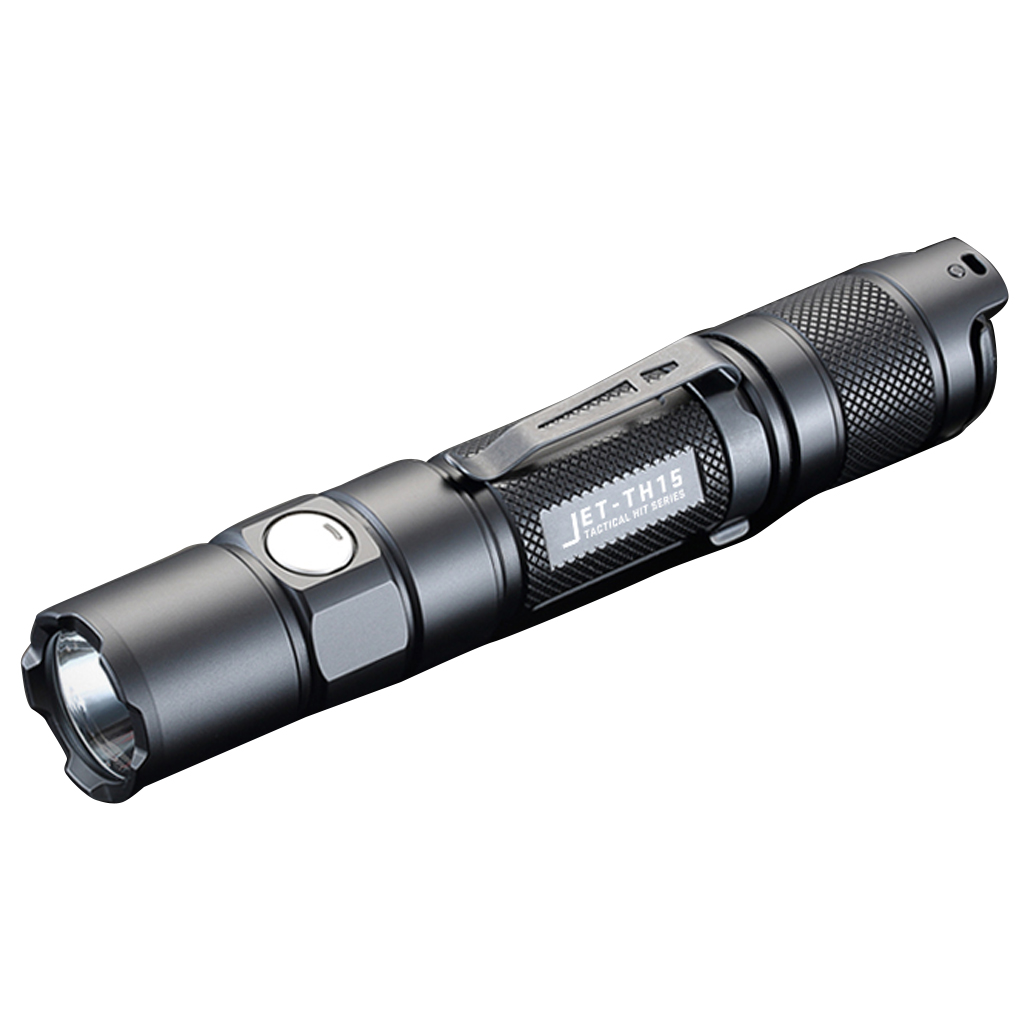 JETBeam TH15 Tactical Flashlight XHP35 E2 1300LM Lumen With Micro usb Rechargeable 18650 2600mah Battery