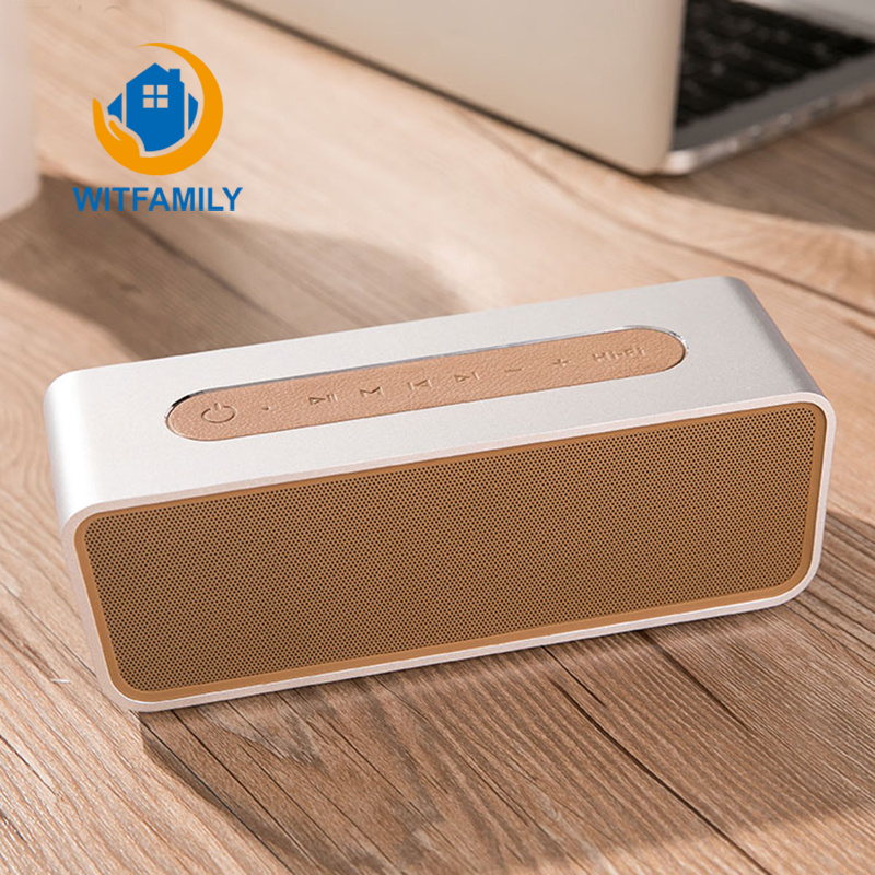 Bluetooth Speaker Alarm Stereo 8 Hours Rechargeable Battery Hands free W/Mic LED Display Micro SD Slot AUX Input Clock FM Radio