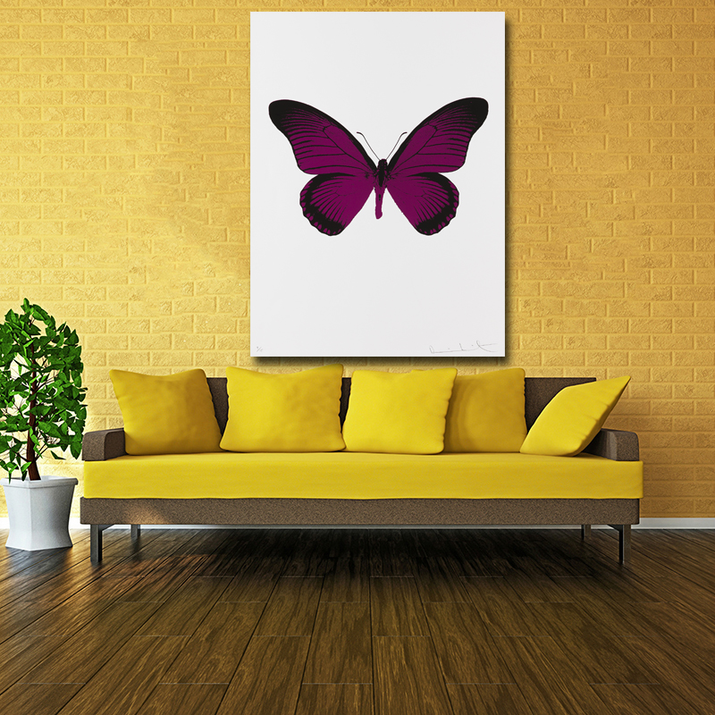 Realist Purple Butterfly Pictures Modern Canvas Painting Wall Art ...