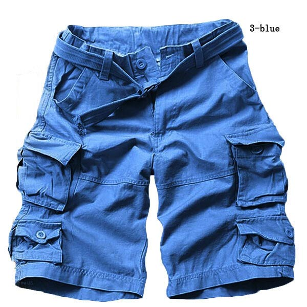 2017 Summer Big Yards Men Cotton Shorts Camouflage Many Pockets Design Loose The Pirates Trousers Free Shipping 1 PCS
