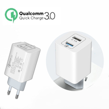 Quick Charge QC 3.0 Travel Mobile Phone USB Charger For Samsung S10 Dual Huawei P30 Sony Power Adapter