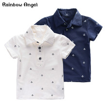 2019 Summer Navy Polos Baby Boys Clothes Polo Shirts Kids Cotton Childrens Clothing Brand Top Quality 2-7