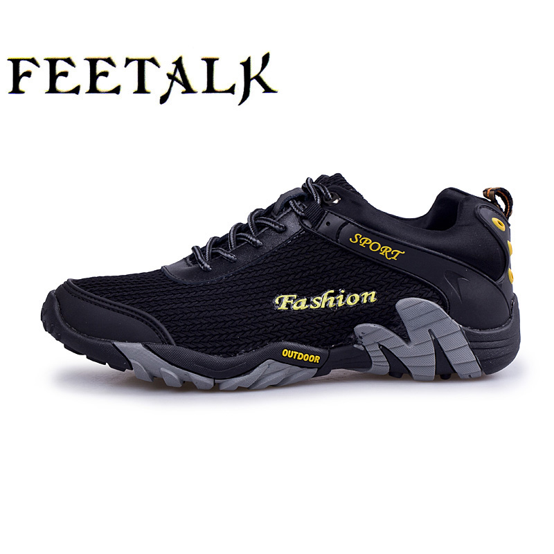 2017 New Arrival Men Hiking Shoes Mountain Boots Summer Breathable Outdoor Climbing Sneakers Black Gray Men Trekking Shoes ada instruments grounddrill 14 revers без шнека