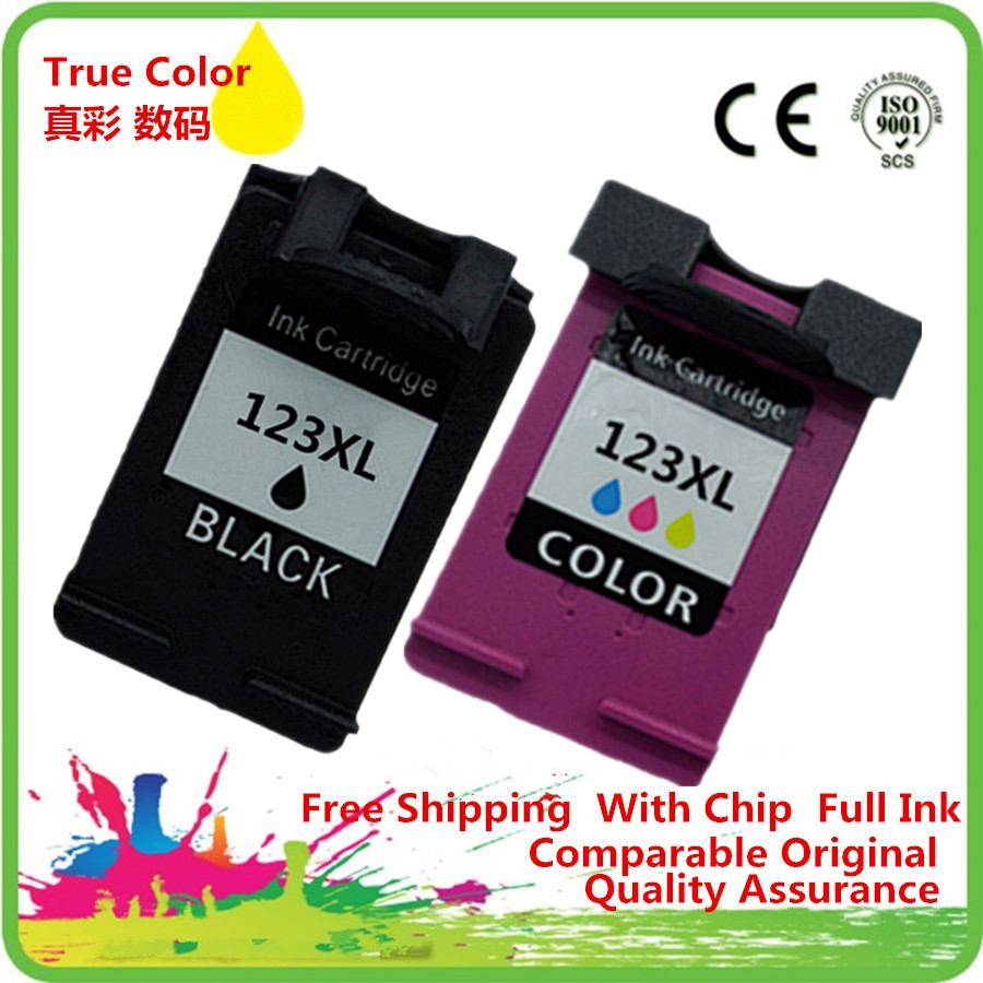 2 Pack Ink Cartridge Remanufactured For HP 123 XL 123XL HP123 HP123XL Deskjet 1110 1111 1112 2130 2132 3630 3632 Inkjet Printer