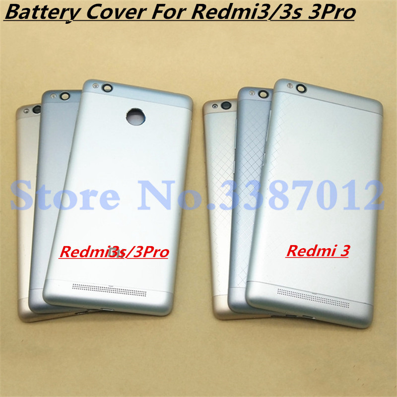 For <font><b>Redmi</b></font> 3 New <font><b>Battery</b></font> Door Back <font><b>Cover</b></font> Housing Case For Xiaomi <font><b>Redmi</b></font> <font><b>3s</b></font> <font><b>Redmi</b></font> 3 Pro With Power Volume Buttons+Camera lenses image