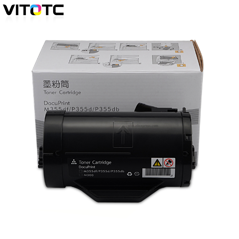 Toner-Cartridge Fuji-Xerox Docuprint Compatible For With Developer-Reset Refill 10k-Chips