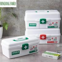 Household First Aid Kit Box Plastic Emergency Medicine Organizer Boxes Container Portable Multi layer Large Capacity Storage Box