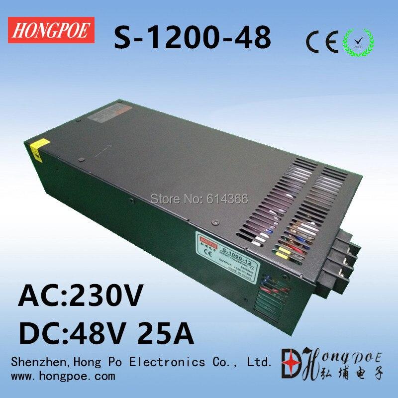 Free Shipping DC 48V 25A power supply 48V adjustable power AC-DC High-Power PSU 1200W free shipping 1200w 250v power supply 250v 4 8a dc adjustable voltage 0 250v 1200w 110vac