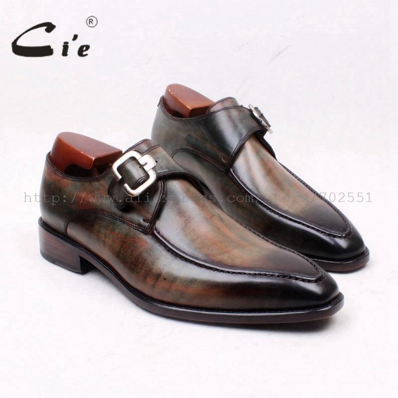Cie/Мужские дышащие туфли ручной работы на плоской подошве, с квадратным носком, с ремешком в виде монах, ручной работы, из натуральной кожи, 127