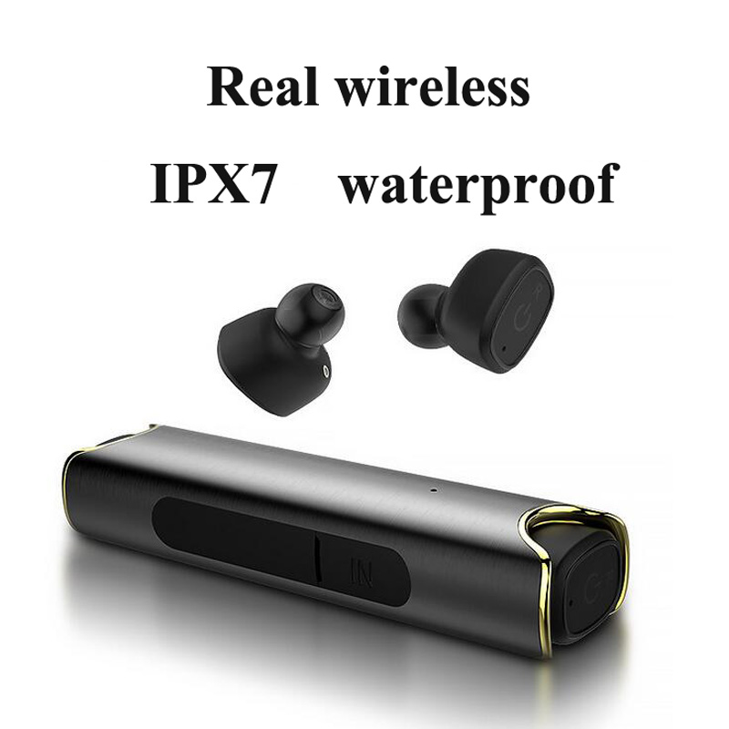 TWS-S2 Real wireless Bluetooth headphones V4.2 outdoor sport IPX7 Waterproof Invisible bluetooth headsets universal compatible v sport ft209 2