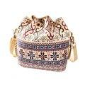 Mujeres de moda Lienzo Cubo Divertido Bolsa de Patrón de Flores de Diseñador Señoras del Mensajero de la Cadena Bolsas de Hombro Cadena Crossbody Embrague M0001