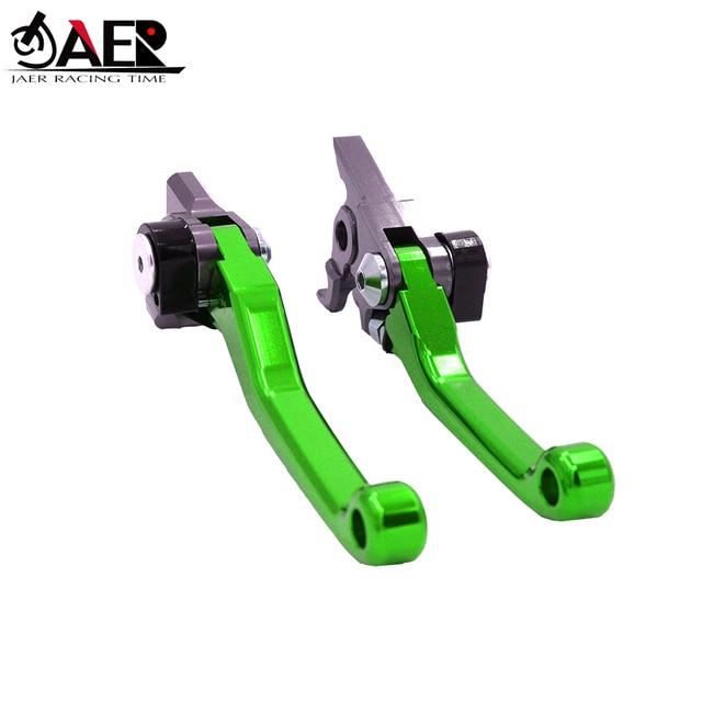 JAER CNC Aluminum Billet Pivot Foldable Brake Clutch Levers For Kawasaki KLX450R 2008 2009 2010 2011 2012 2013 2014 2015