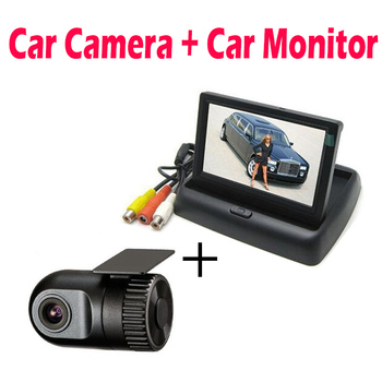 XYCING D168 Mini Car DVR Camcorder Vehicle Video Recorder 1080P automobile Dash Cam - 4.3 Inch TFT LCD Car Rear View Monitor image