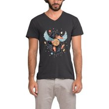 CHI Summer Men Cotton Clothing Men's T-shirt high quality fashion Woodpecker&climbing print short sleeve t shirt men Fitness top