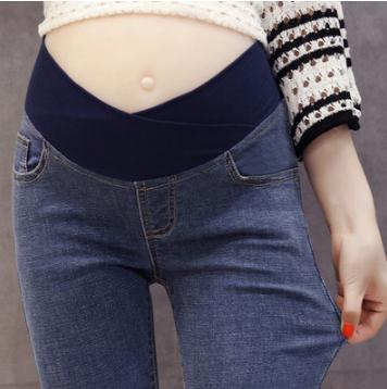 Low Waist Slim Maternity Jeans 2019 Spring Autumn F Skinny Denim Pregnancy Trousers Pants Clothes for Pregnant Women SH-1736 image