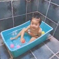 Baby badewanne babybadewanne kind verdickung große badewanne neugeborenen bad becken plus größe baby folding kunststoff badewanne