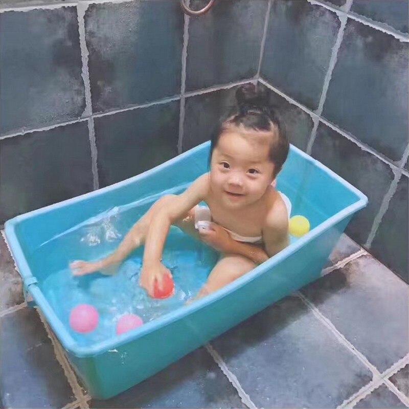 Baignoire bébé baignoire bébé enfant épaississement grande baignoire de bain nouveau-né bassin grande taille bébé pliant en plastique baignoire