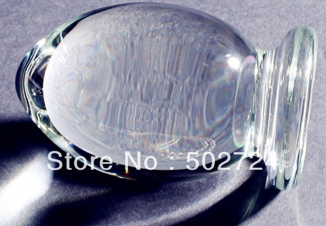 High Quality Big Crystal Glass Butt Plug Glass Dildos stimulator masturbation Sex Toys For Her JDA7