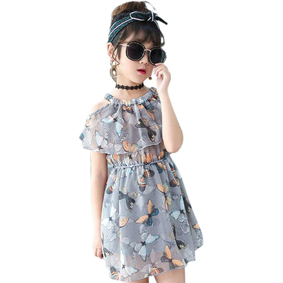 Kids Dresses For Girls Floral Pattern Girls Party Dress Sleeveless Dress  Girls Teenage Clothing For Girls 804e3ec511c5