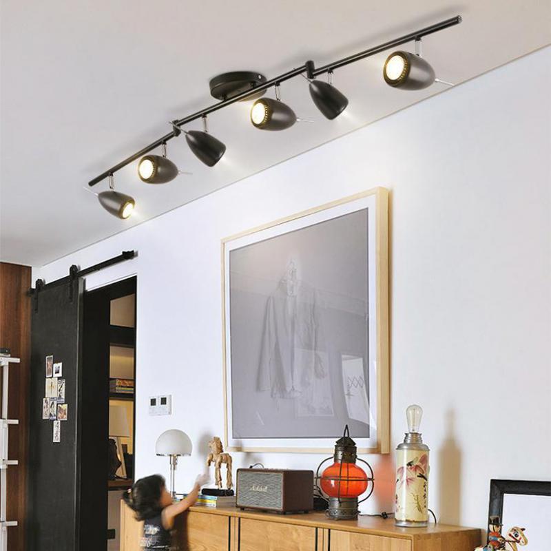 nordic hintergrund wandstrahler bekleidungsgeschaft fuhrte track deckenleuchte wohnzimmer bar industrie wind scheinwerfer lichter in nordic hintergrund