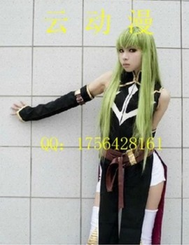 Code Geass R2 C.C Black Custome Made girls lolita dress Cosplay Costume  01