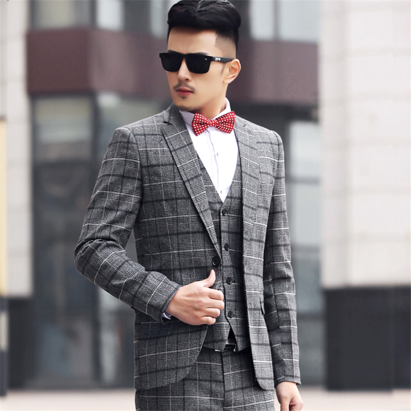 Jacketpantvest Custom Slim Fit Dress Man Business Suit Latest