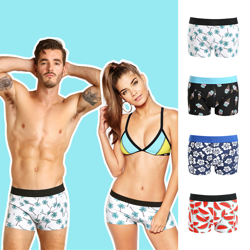 Mens Boxer Briefs Underwear Color Butterfly No Ride Up Cotton Stretch Short