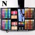 Miss rose set de maquillaje de sombra de ojos + colorete + polvo compacto kit de maquillaje brillante sombra de ojos mojado 7002-381n