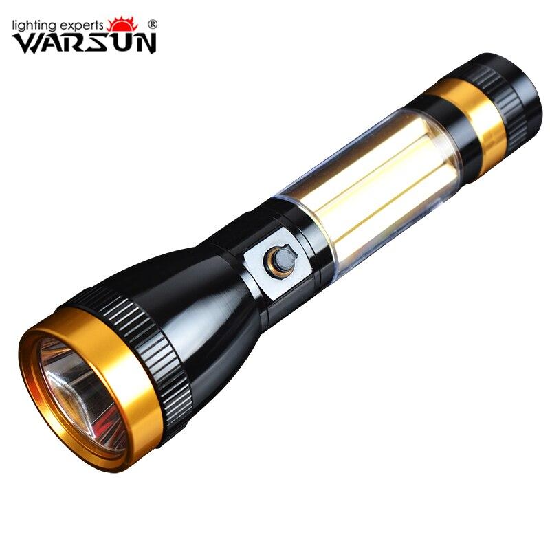 WARSUN Portable Linternas Led 3 Modes Lanterna Led Tactique lampe de Poche Camping En Plein Air Torche Zaklamp Gladiateur Flash Lumière