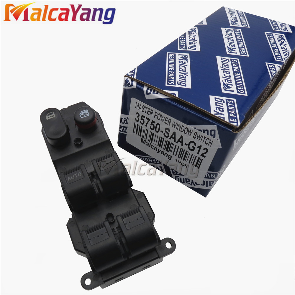 35750-SAA-G12-M1 Power Window Lifter Switch 35750SAAG12M1 For <font><b>Honda</b></font> Jazz Fit 2003 2004 2005 2006 2007 2008 image