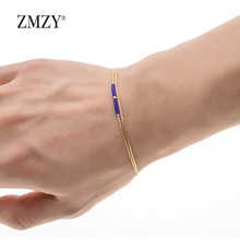 ZMZY Charm Crystal Gold Color Bracelet Femme Bead Bracelet Women Accessories Hand jewelry