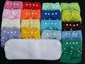 Novo 5 pcs + 5 inserções ajustável reutilizável Lot bebê lavável fralda de pano fraldas