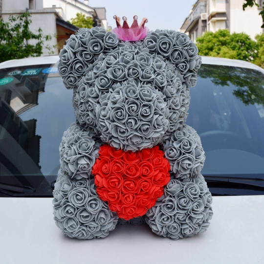 Rose Bear Wedding Party Decoration Valentines Day Gift Cute Cartoon