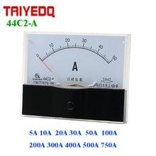 44C2-A Aktuelle Panel Meter 44C2 DC Analog Aktuelle Panel Meter 75mV 10A 20A 30A 50A 100A 200A 500A 750A 1KA elektrische Meter