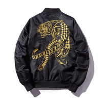 New Bomber Mns Jackets Embroidery Golden&white tiger 2019 Jacket Mens MA1 Pilot Bomber Jacket Male Embroidered Thin Coats