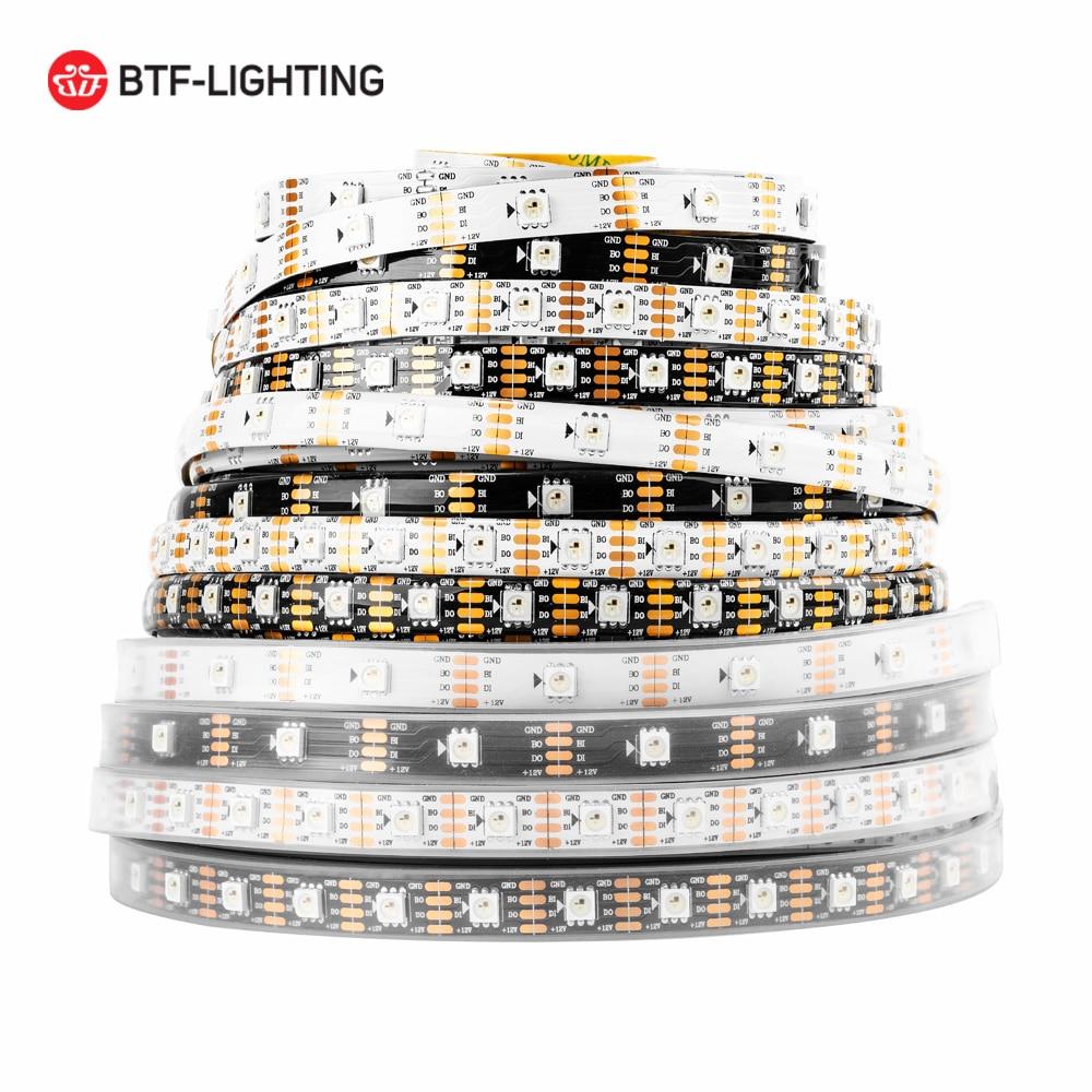 DC12V WS2815 (WS2812B/WS2813) RGB LED Pixels Strip Light Dual-Signal 1m/5m Individually Addressable LED 30/60/144 Pixels/Leds/m