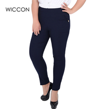 Plus Size 2XL-6XL Women Pants 2018 Fashion Ladies High Waist Elastic Women Long Trousers Cotton Skinny Pencil Pants