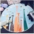 Bonito Diámetro 150 cm Animales Zorro Ovejas Jirafa Baby Play Mats Antideslizante Gatear Alfombra Alfombra Manta Como Juguetes de Los Niños De Almacenamiento bolsa