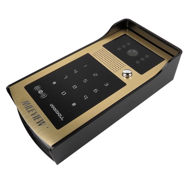 FREE SHIPPING New 7 Color Screen Video Door Phone Intercom System + RFID Keypad Unlock Outdoor Camera + Electronic Control Lock