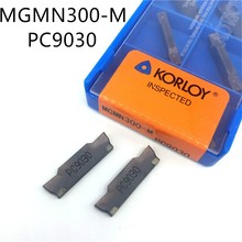 KORLOY 10pcs MGMN300 M PC9030 Grooving Carbide inserts turning tool lathe cutter tool cnc tool