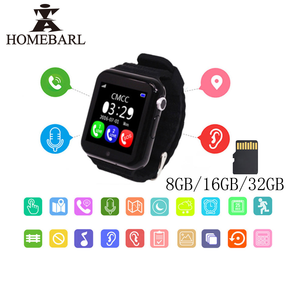 V7K Smart Watch Children Security Anti Lost GPS Tracker Waterproof 1.54'' Screen Camera Kid SOS Support 8GB 16GB 32GB TF Card lemado v12 gps sport smart watch for children 1 22 touch screen support 32g tf card vibration sos kids safe tracker with camera
