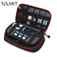 Tourit New Travel Bags Data Cable Practical Earphone Wire Storage Bag Power Line Organizer Electric Bag