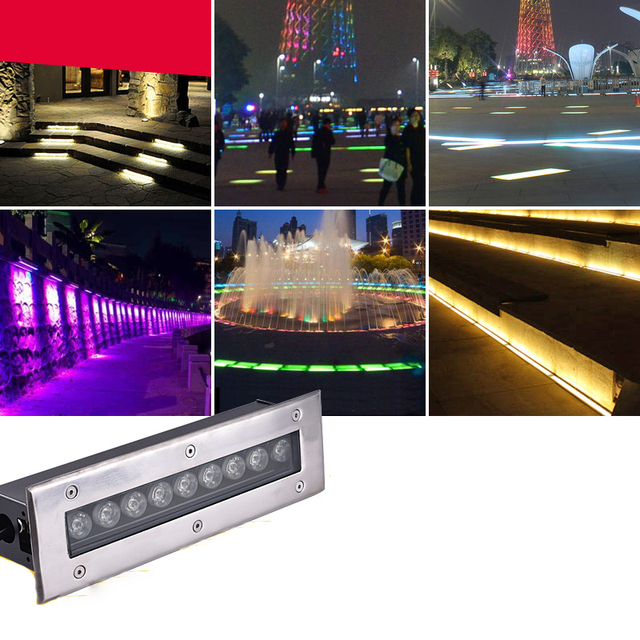 4pcs/lot 3W 5W 6W 7W 9W 12W 15w 18w 24w 36W Rectangle Buried Outdoor Floor Lamp Underground Lighting Waterproof AC85-265V/12V