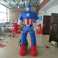 Cool inflatable cartoon character model,inflatable Captain America for advertising