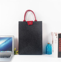 Wool Felt Laptop Handbag For 15 Inch Macbook Lenovo HP Notebook Protect Vertical Bag Tote Minimalist
