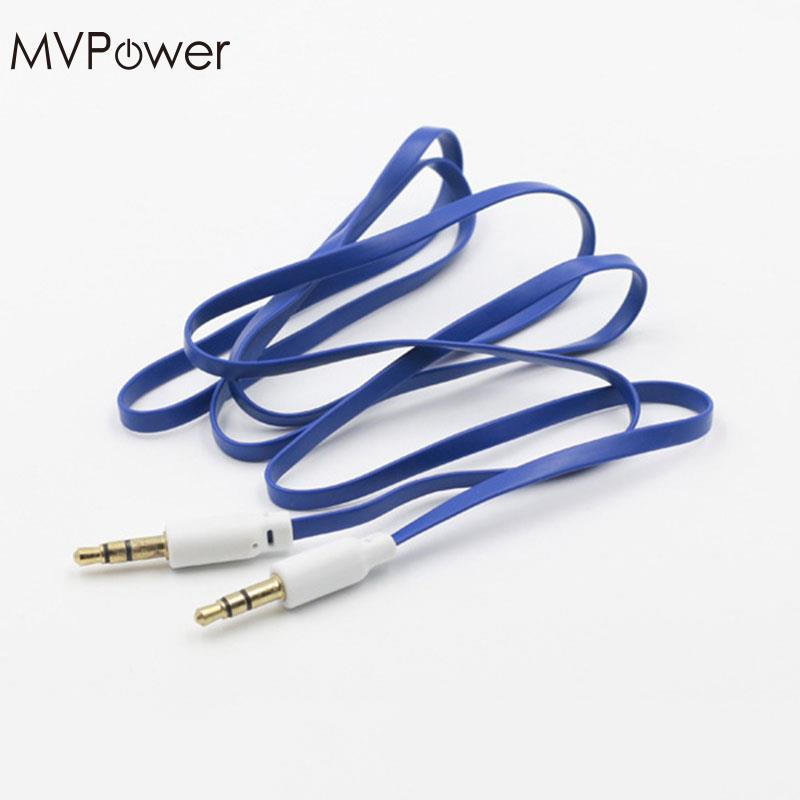 MVPower 1 Pcs 3.5mm Jack Male Car Aux Cord Stereo Cables Aux to Aux Audio Cable for Smart Phone Accessories
