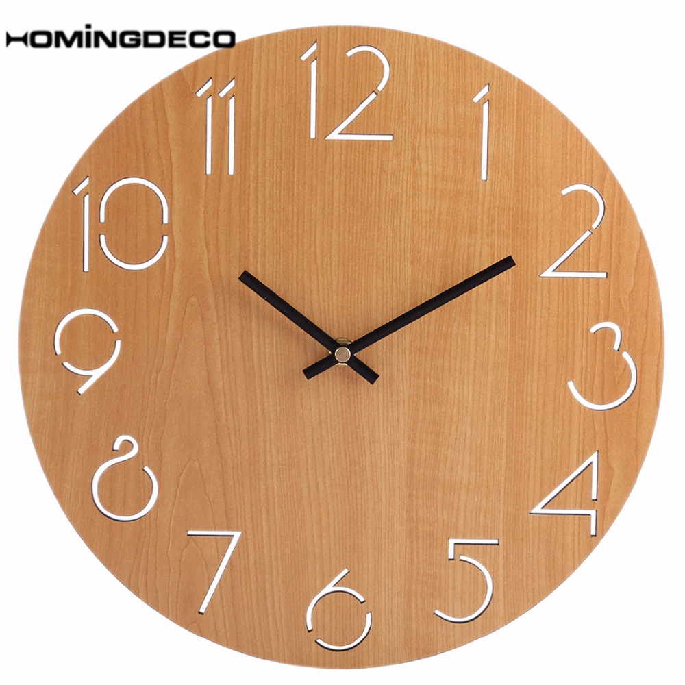 Homingdeco Simple Wall Clock Round Modern Design Home