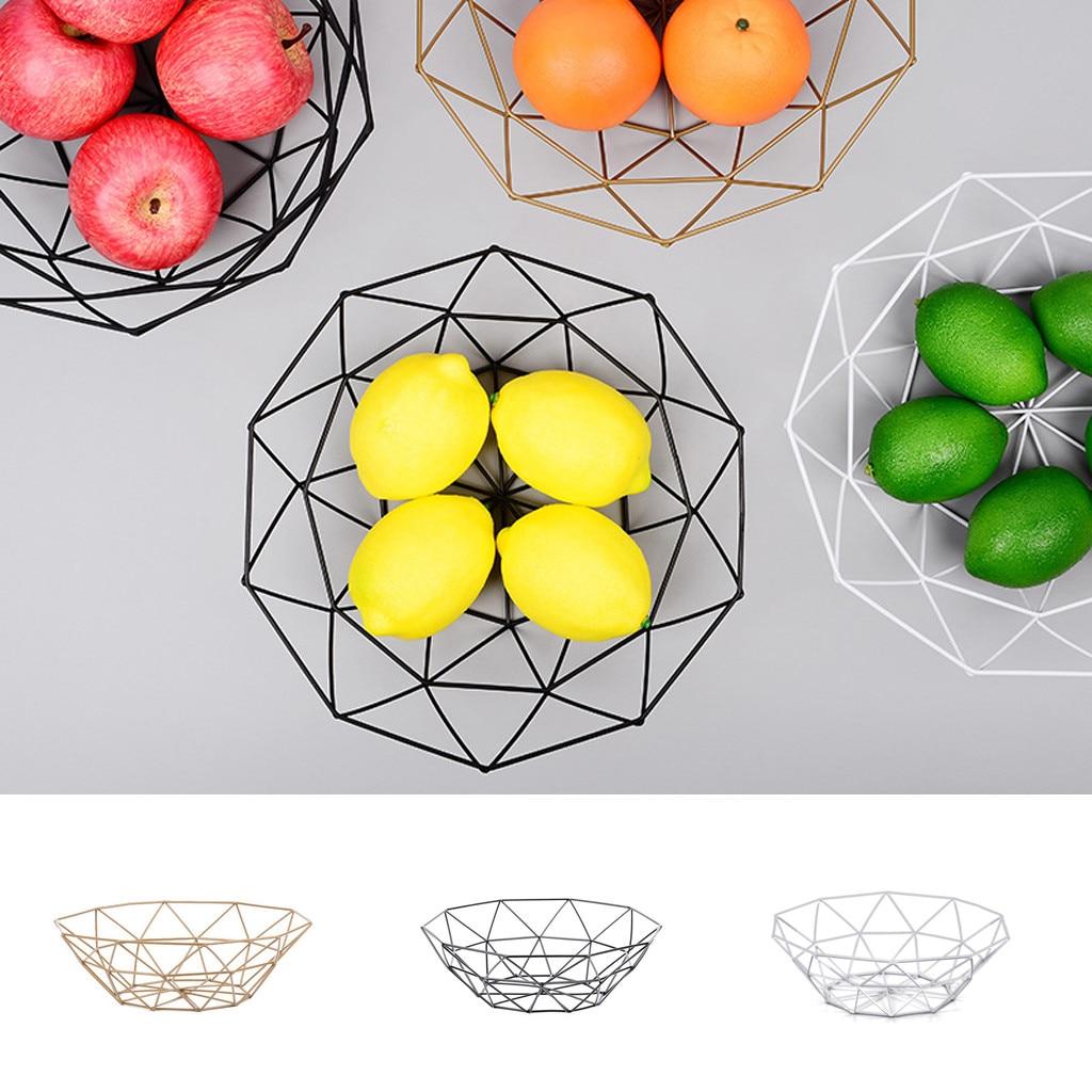 Nordic style fruit basket wire decoration metal storage tray display bowl fruit frame vegetable table storage tray fruit basket Storage Trays     - title=