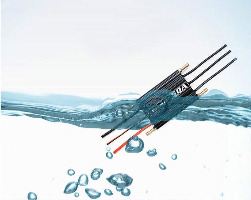 Flycolor 50A 70A 90A 120A 150A Support de contrôle de vitesse ESC sans balai 2-6 S BEC Lipo 5.5 V/5A pour bateau RC