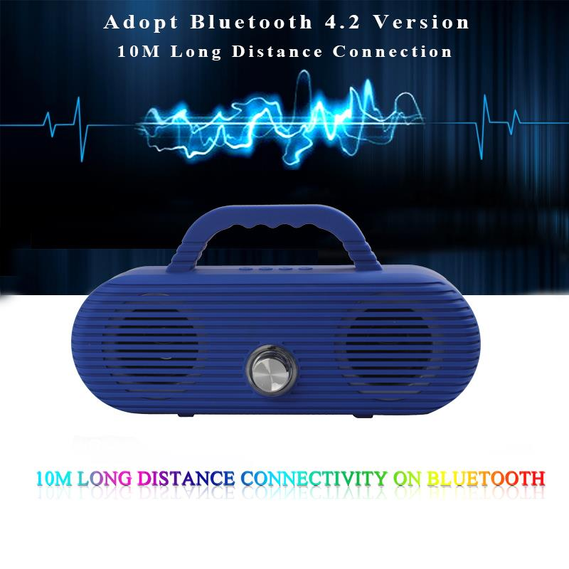 Image 4 - CM86 Portable Bluetooth Speaker Outdoor wireless column Waterproof Computer Speaker Soundbox With TF Card And USB FM radio-in Portable Speakers from Consumer Electronics